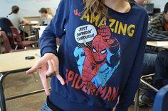 spider-man sweatshirt. ♡ @AnnieLoveAJ ☽♥☾