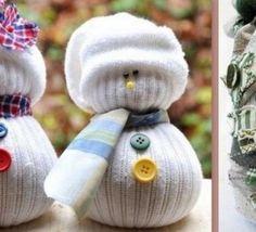 Comment faire soi-même de jolis bonhommes de neige pour décorer la maison. Voici des modèles de bonhommes de neige fabriqués maison avec de la récup.