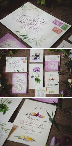Wedding invitation suite inspired by Tuscany | Just For Love Photography | See more: http://theweddingplaybook.com/tuscan-plum-wedding-inspiration/