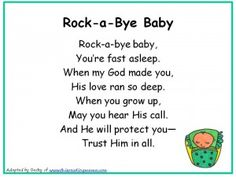 Photo of Rockabye Baby Christian Nursery Rhyme