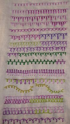 Blanket stitch variations.