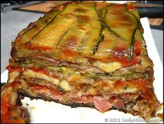 Paleo Diet 97042 Zucchini, ham and mozzarella terrine ~ Happy taste buds Snack Recipes, Cooking Recipes, Healthy Recipes, Zucchini, Tomate Mozzarella, Mozarella, Fast Food, Paleo Diet, Casserole Recipes