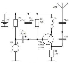 Продолжая тему простых схем для радиолюбителя, мы рассмотрим, как сделать простой жучок для прослушки своими руками. Простой жучок может использоваться не только для шпионажа, но и, например, для прос... Batterie Lithium, App Hack, Electrical Engineering, Ham Radio, Electronics Projects, Diagram, Circuits, Sleep, Tecnologia