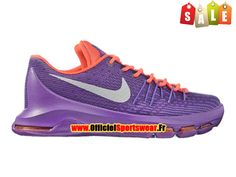 Nike KD 8/VIII Chaussure de Nike Basket-ball Pas Cher Pour Homme Pourpre/Blanc/Rose 768867-A007