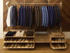 Dressing masculin de style minimaliste #mode #homme #dressing #rangement #deco #decoration #maison #houses #interiors #dressingroom