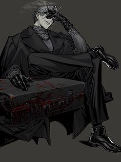 Anime Sexy, Dark Anime Guys, Anime Negra, Character Inspiration, Character Art, Manga Anime, Anime Art, Anime Gangster, Japon Illustration