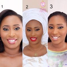 3 shades of beauty.pic via @pushiesmakeover #mua #beauty #welove #3looks #inspiration