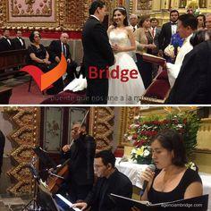 Boda Shanidel & José Antonio. Abril 2016. Ensamble: piano, violín, cello y soprano. Templo de San Diego, Morelia, Michoacán. agenciambridge.com