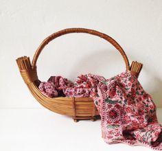 Vintage basket or fruit bowl by VelvetEra on Etsy