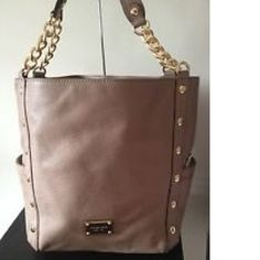"""MICHAEL KORS """"Delancy"""" 100% Genuine Soft Leather LARGE SHOULDER Handbag/Tote/Purse New with Tag 100% Authentic Style: Delancy Color Dark Dune Retail price $498.00 + Tax Great Saving$ for your Pocket! FREE Expedited Delivery!! Michael Kors """"Delancy"""" X-Large shoulder Tote/Purse 100% Authentic Guaranteed !!!  Genuine Soft Leather Gold tone accents Double chain Exterior Side pocket on both sides  Michael Kors logo Gold Metal Plate  Measurements 17"""" Top 13"""" Bottom L x 13"""" H x 7"""" W Strap drop 9"""""""