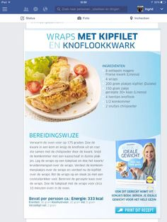 Recept van sonja bakker Weight Watchers Lunches, Mexican Food Recipes, Healthy Recipes, Eat Lunch, Tex Mex, Light Recipes, Foodies, Healthy Lifestyle, Bakery