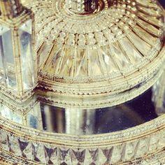Detail from a pair of fabulous early 20th century  Italian  cut-glass vase- lamps, lot 243 #bonhamsdefiningstyle #bonhams1793 #st alia n furniture #cutglass #interiors #palazzoliving
