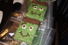 Frankenstein Rice Krispies I made!