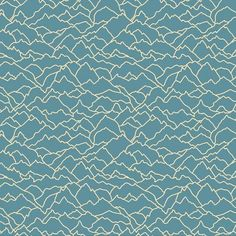 Cotton Fabric Metre Dashwood - Altitude - Mountain Outline Dark Teal in Crafts, Fabric Design Textile, Textile Patterns, Print Patterns, Mountain Outline, Teal Fabric, Cotton Fabric, Deep Teal, Surface Pattern Design, Graphic Prints