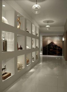 Wall Niche Hall Design Ideas, Pictures, Remodel and Decor House Design, Wall Niche, House Interior, Decor Design, Niche Design, Home, Hall Design, Hallway Designs, Home Decor