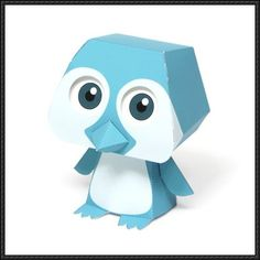 Quorory Penguin Free Paper Toy Download - http://www.papercraftsquare.com/quorory-penguin-free-paper-toy-download.html