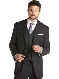 Suits & Suit Separates - Lauren by Ralph Lauren Charcoal Plaid Suit - Men's Wearhouse
