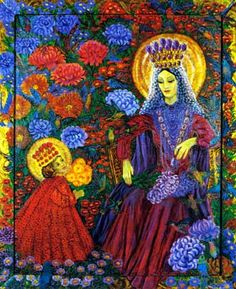 Madonna of the Chrysanthemums