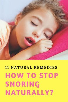 How to Stop Snoring Naturally- Best Home Treatment