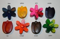 These beautiful flower crayons are sure to delight your little Picasso. They are perfect to spruce up your craft supplies, to stuff in stockings