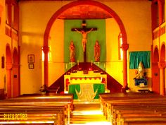 Inside the first catholic church in occidental Cameroon...FAKO...SOUTH-WEST CAMEROON