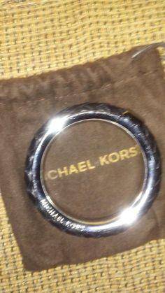 Michael Kors Collection Leather Bangle - Black NWOT #MichaelKors #Stackable