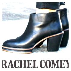 Rachel Comey Boots I love love love these boots but my feet are a bit too wide for them. I just bought them off this site and am totally bummed about selling them. Good condition- $400 new- and sold out everywhere. Rachel Comey Shoes Ankle Boots & Booties