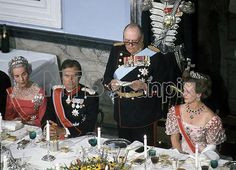 Queen Ingrid wore this tiara for a dinner during the Norwegian State Visit in September 1974.