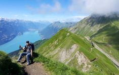 Epic ridge trail with sweeping views of the Berner Oberland. A difficult and slightly dangerous hike, best for older kids with hiking experience. Trail Maps, Train Station, Pretty Pictures, To Go, Hiking, Park, Places, Basel, Switzerland