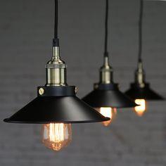 Steel Edison Pendant Lamp - pendant lamp - ceiling lamp - hanging lamp - edison bulb - industrial style - DIY ligthing set - 110V-250V