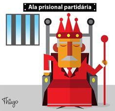 Político preso tratado como rei