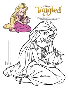easy rapunzel coloring pages to print - Tangled Coloring Pages Girls