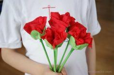 Bukiet kwiatów z opakowania po jajkach: Dzień Kobiet, Dzień Mamy, Dzień Babci. Flower egg carton craft