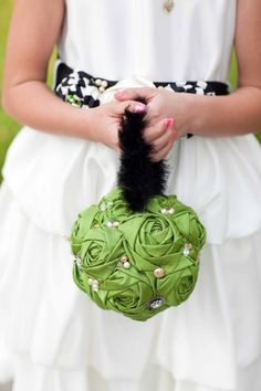 fabric flower kissing ball
