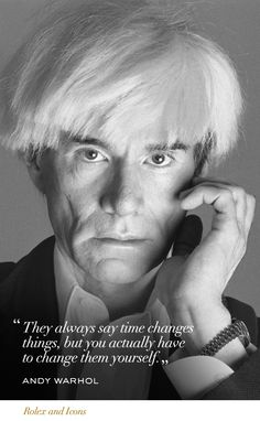 Andy Warhol #Rolex #Icons #RolexOfficial