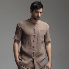The outfit is ideal for practically any occasion, just be certain that you keep away from the ketchup and other similar sauces! Indian Men Fashion, Mens Fashion Wear, Oriental Fashion, Oriental Style, Chinese Shirt, Kurta Men, Mens Kurta Designs, Stylish Mens Outfits, Look Cool
