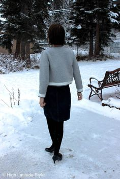 fashion over 40 gray and blue work look @ High Latitude Style @ http://www.highlatitudestyle.com