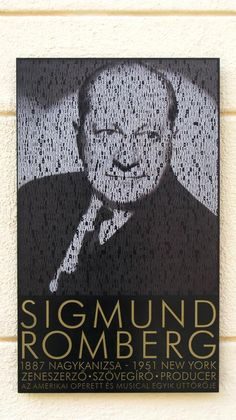 Sigmund Romberg memorial plaque