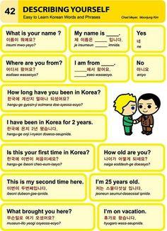 Describing yourself in Korean
