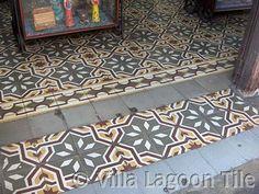 Antique Cement Tiles and Photo Tours French Tile, Style Tile, Garden Tiles, Tiles, Flooring, Tile Floor, Cement Tile, Painting Tile, Vintage Tile