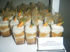 Another great Catersource picture - shot glass carrot cake