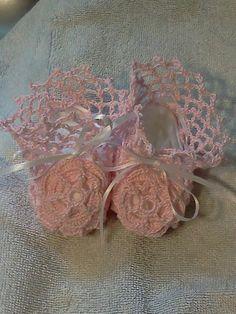 Pink Irish Rose Baby Girl Booties