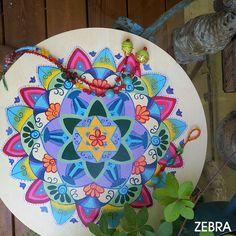 Jewish Mandala-Star Of David-Floral Decor-Hebrew by @zebratoys on Etsy-Jewish Mandala-Star Of David-Floral Decor-Hebrew Blessing-Hand Painted-Judaica Gift-Jewish Décor-Holy Land Art-Healing Decor-Jewish Art