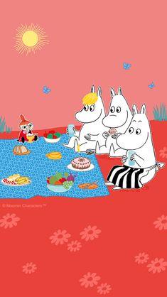 Moomin Wallpaper, Hello Kitty Wallpaper, Cool Wallpaper, Iphone Wallpaper, Cute Cartoon Pictures, Cartoon Pics, Little My Moomin, Moomin Valley, Tove Jansson