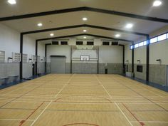 Structural steel gymnasiums for schools or public convention centres
