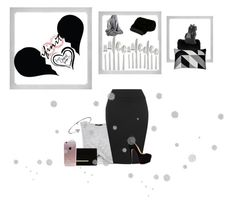 """""""Black grey"""" by josefina-deveci ❤ liked on Polyvore featuring beauty, New Look, WearAll, Dune, Bling Jewelry, Polaroid, PyroPet, Oneida and LISKA"""