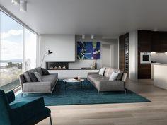 FINN – 4 luksusleiligheter av ypperste kvalitet. Panoramautsikt, heis, peis, 3 garasjeplasser, opptil 50 kvm bodareal