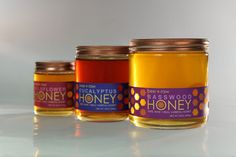 bee raw honey packaging