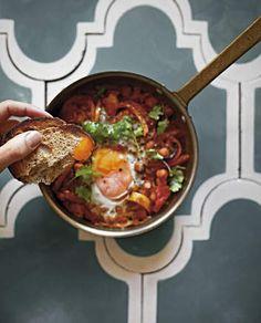 Michelle Bridges Moroccan eggs.