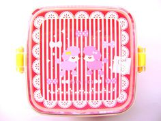 Snack Size Bento Box Pink Cute Poodles | eBay
